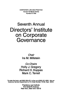 Annual Directors  Institute on Corporate Governance PDF