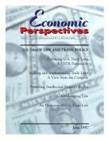 U S  Trade Law and Trade Policy PDF