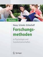 Forschungsmethoden in Psychologie und Sozialwissenschaften   f  r Bachelor PDF