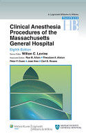 Clinical Anesthesia Procedures of the Massachusetts General Hospital PDF