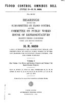 Rivers and Harbors Omnibus Bill (title I - H.R. 9859)