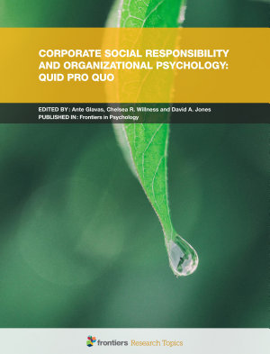 Corporate Social Responsibility and Organizational Psychology  Quid pro Quo PDF