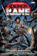 Solomon Kane  The Original Marvel Years Omnibus PDF