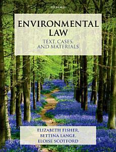 Environmental Law  Text  Cases   Materials PDF