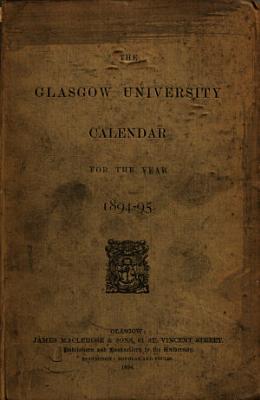 Glasgow University Calendar for the Year     PDF