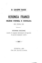 Veronica Franco: celebre poetessa e cortigiana del decolo XVI.
