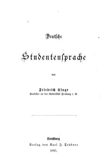 Deutsche Studentensprache PDF