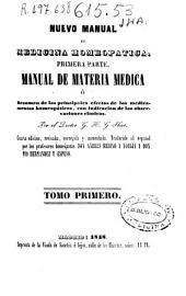 Nuevo manual de Medicina Homeopática: Volúmenes 1-2