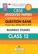 Oswaal CBSE Unsolved Papers Chapterwise & Topicwise Class 12 Business Studies (For March 2020 Exam)