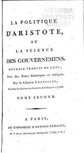 La politique d'Aristote; ou, La science des gouvernemens: Volume2