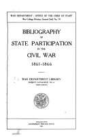 Bibliography of State Participation in the Civil War 1861 1866 PDF