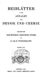 Annalen der Physik: Beiblätter, Band 15