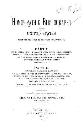 Homoeopathic Bibliography of the United States PDF