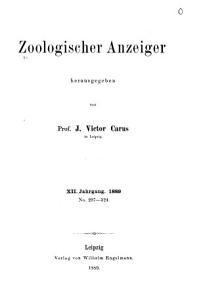 Zoologischer Anzeiger PDF