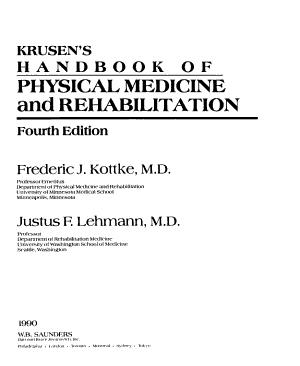 Krusen s Handbook of Physical Medicine and Rehabilitation PDF