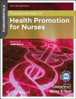 Fundamentals of Health Promotion for Nurses PDF