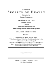 A Disclosure of Secrets of Heaven Contained in Sacred Scripture Or the Word of the Lord PDF