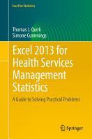 Excel 2013 for Health Services Management Statistics PDF