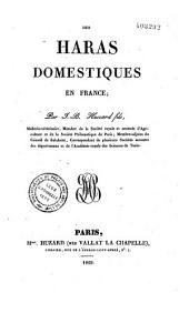 Des Haras Domestiques En France...