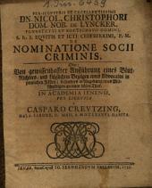 De nominatione socii criminis
