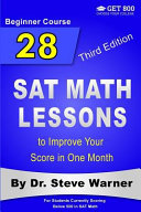 28 SAT Math Lessons to Improve Your Score in One Month   Beginner Course Book
