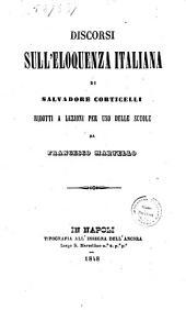 Discorsi sull'eloquenza italiana di Salvadore Corticelli