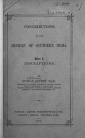 Contributions to the History of Southern India: Part 1
