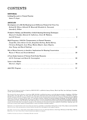Journal of the American Academy of Audiology PDF