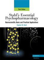 Stahl s Essential Psychopharmacology PDF