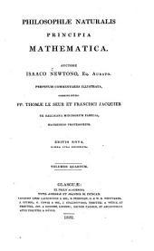 Philosophiæ naturalis principia mathematica: Volume 4