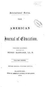 The American Journal of Education: Volume 28