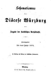 Schematismus der Diözese Würzburg: 1871