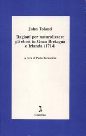 Ragioni per naturalizzare gli ebrei in Gran Bretagna e Irlanda (1714)