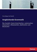 Vergleichende Grammatik PDF