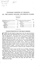 Standard varieties of chickens: III. The Asiatic, English, and French classes