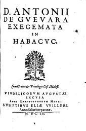 Exegemata in Habacuc