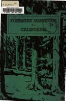 Forestry Handbook for California PDF
