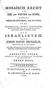 Mosaïsch recht of Ziel der wetten van Moses: Volume 3