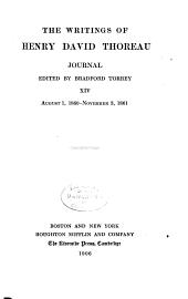 Journal, ed. by Bradford Torrey, 1837-1846, 1850-Nov. 3, 1861