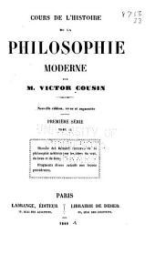 Cours de l'histoire de la philosophie moderne: Volume2