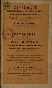 Boekveilingcatalogus, 18 februari 1863