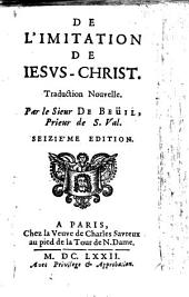 De l'imitation de Jesus Christ