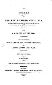 The Works of the Rev. Richard Cecil ...: With a Memoir of His Life, Volume 3