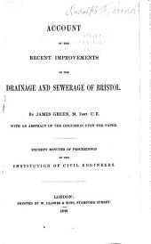 Reports on Sewerage Works: Volume 1