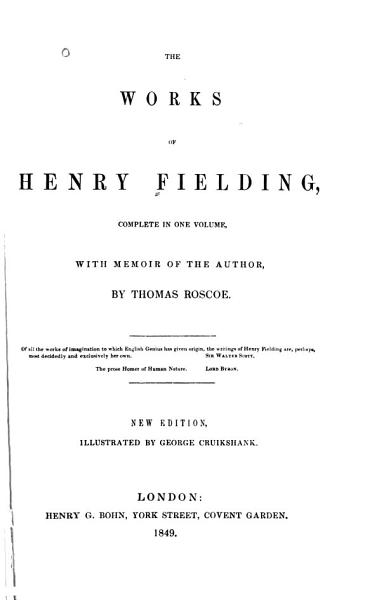 Download The Works of Henry Fielding Book