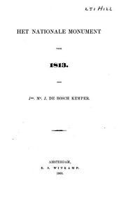 Het nationale monument voor 1813