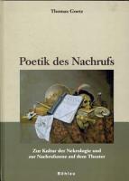 Poetik des Nachrufs PDF