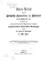 Quaestiones Florianae criticae: Jahresbericht üb. d. k. Gymnas. zu Düsseldorf f. 1868-69