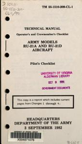 Operator's and crewmember's checklist: Army models RU-21A and RU-21D aircraft : pilot's checklist