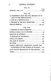The works of John Jewel, bishop of Salisbury, ed. by R.W. Jelf: Volume 1